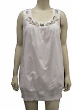 NWT LANE BRYANT White Cotton Beaded Tunic Top/Blouse Sz 14/16 1X 2X 3X 120380RM
