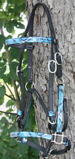Custom Beta Halter w/ Easy Snap Browband Hedstall. Endurance & Trail Riding Tack