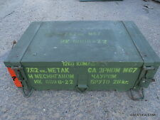 Vintage Russian Ammunition Crate Military Crate 7.62 Ammo Box Wooden Wood Box #2