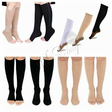 Mens Womens Knee-High Compression Socks Open/Closed Toe Leg support Stockings