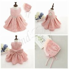 Kids Baby Flower Girls Bow Pageant Tulle Tutu Dress Princess Party Wedding Gown