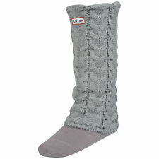NWOB $65 Hunter Chunky Cable-Knit Long Welly Socks Size MM,