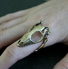 Lizard Skull Ring - Bronze Skink with Adjustable Jaw Band Reptile 078