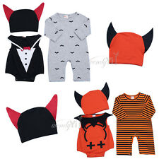 Infant Boys Girls Baby Animal Romper Hoodie Outfit Party Fancy Hat Costume 4PCS