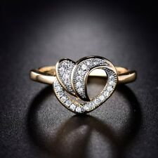 Fantastic Wedding Ring 18K Gold Filled White CZ Crystal Eternity Ring Sz6-Sz9
