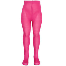 Piccolo Big Girls Fuchsia Solid Color Opaque Soft Stretchy Tights 7-16