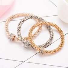 3pcs Set/stack of bracelets fashion bangles gold, rose gold & silver with charms