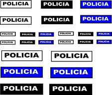 24 x Spanish policia wording DECALS IDEAL CODE 3 Models etc corgi lledo