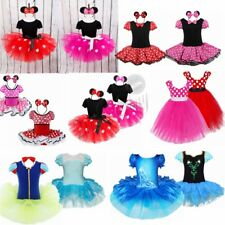 Halloween Kid Girls Minnie Mouse Tutu Skirt Fancy Dress Costume Outfit Party Ear