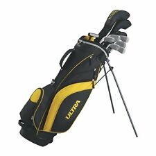 NEW WILSON ULTRA Mens Complete 10 Piece Left Handed LH Golf Club Set w/Stand Bag