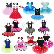Kids Girls Costume Cosplay Halloween Party Fancy Dress Up Headband Set Outfits