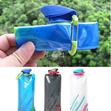 Outdoor 700ml Flexible Collapsible Foldable Reusable Water Bottles Ice Bag US
