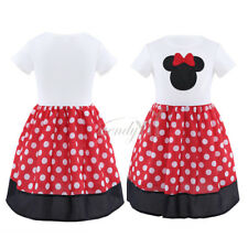 Hot Kids Girls Baby Toddler Polka Dot Outfits Party Costume Causal Dress 1-6Y