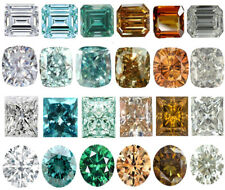 2.00 to 4.00 Ct Emerald,Cushion,Princess,Round Cut Loose moissanite For sale