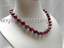 Variation genuine cultured natural rice freshwater pearl necklace 11mm USA EUB