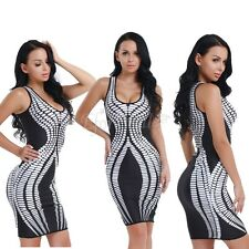 Sexy Womens Sleeveless Bodycon Evening Party Cocktail Club Mini Pencil Dress