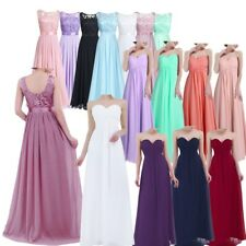 Women's Elegant Long Dress Evening Party Formal Prom Gown Wedding Bridesmaid New