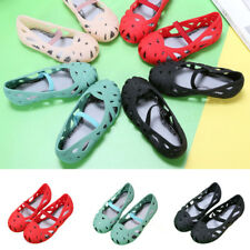 Children Girls Jelly Hollow Out Breathable Sandals Party Beach Dance Shoes Size