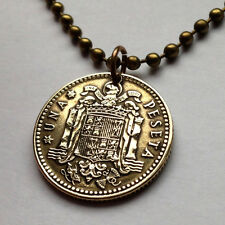 1963 1966 Spain peseta coin pendant escudo Español Leon Spanish shield n000636