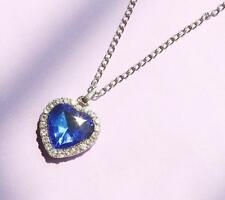 Crystal Pendant Necklace Titanic Heart Of The Ocean Necklace Valentines Gift V