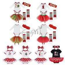 US Newborn Toddler Baby Girl Dress Party Wedding Tulle Christmas Outfits Costume
