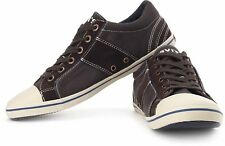 SALE! NEW LEVI'S MIRTO MENS RETRO INDIE MOD TRAINERS IN DARK BROWN RACK 46