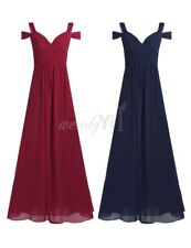 Newly Long Chiffon Evening Formal Party Ball Gown Prom Women Bridesmaid Dress