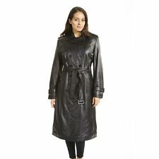 Excelled Ladies Lambskin Trench Coat