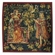 The Lecture French Medieval Tapestry Cushion Pillow Cover - 18 x 18 - NEW