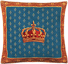 Henry Crown French Tapestry Cushion Pillow Cover - 18 x 18 - NEW