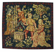 Vigne French Tapestry Medieval Wine Makers Cushion Pillow Cover - 18 x 18 - NEW