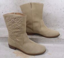 NEW Jack Rogers Womens Kaitlin Sand Suede Pull On Ankle Boots Shoes size 8 M