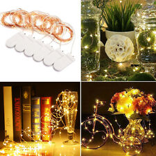 6X2M 20LED MICRO WIRE STRING FAIRY PARTY XMAS WEDDING CHRISTMAS LIGHT Battery UK