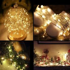 20/30/100/200/300/500 LED Fairy Indoor/Outdoor Battery String Lights Xmas Decor