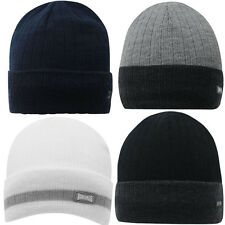 Lonsdale Beanie Hat Knitted Woolly Hat Cap Beanie Hat One Size NEW