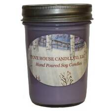 Scented Purple 8-ounce Jelly Jar Soy Candle - 8 oz