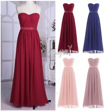 2017 Long Chiffon Evening Formal Party Gown Prom Women Bridesmaid Cocktail Dress
