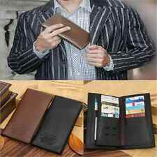 Noble Mens Long Casual Leather Wallet Pockets Card Clutch Cente Bifold Purse TR9