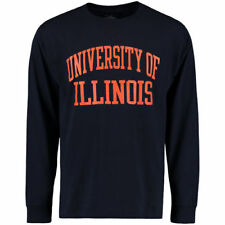 Illinois Fighting Illini Champion University Long Sleeve  T-Shirt - Navy