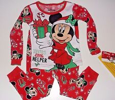 New Disney Minnie Mouse Christmas holiday Toddler girls pajamas 2T 3T 4T 5T