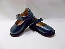Infant Toddler Size Blue Scholar Mary Jane Shoes Hook & Loop Uniform School NIB