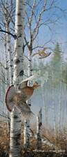 David Maass Rapid Departure - Ruffed Grouse Remarque on Paper