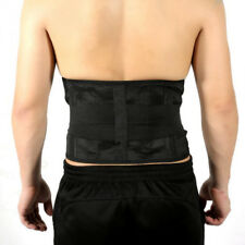 Adjustable Double Pull Lumbar Support Lower Waist Back Belt Brace Pain Relief LC