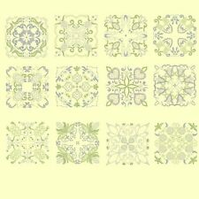 Candlewick & Satin 4 Quilt Squares Machine Embroidery Designs-48 Anemone Designs