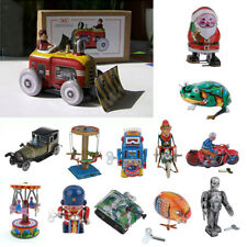 Various Vintage Mechanical Clockwork Wind Up Toy Walking Robot Tin Toy Kids Gift