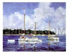 Ray Ellis Moored Cat Boats Open Edition 30x26