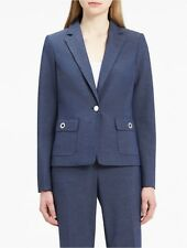calvin klein womens chambray grommet suit jacket
