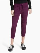 calvin klein womens performance ribbed side cropped leggings