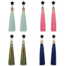 Women Fashion Boho Pentagram Long Tassel Drop Dangle Earrings Charm Jewelry Gift