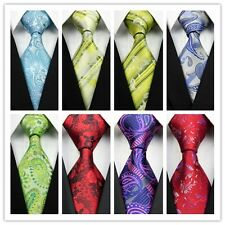 Yellow Blue Green Gray Red Black Pink Floral New Classic Silk Mens Tie Necktie B